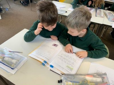 Children self editing their writing