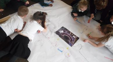 large scale map drawing